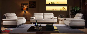 Popular White Leather Sectional Sofa Furniture (N815) pictures & photos