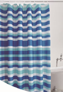 Fashion Shower Curtain 100%Poly Waterproof Shower Curtain (JY-536) pictures & photos