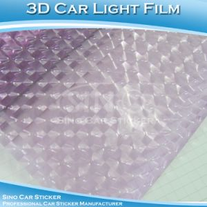 High Grade 3D Lens Purple Tinted Film Car Light Sticker