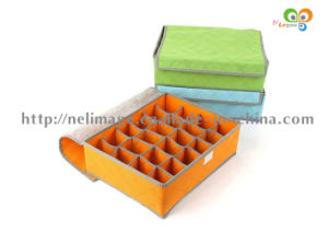 No Woven Fabric 24-Grid Storage Box