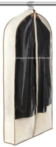Eco-Friendly Non Woven with PVC Gusseted Suit Garment Bag Promotional Dress pictures & photos