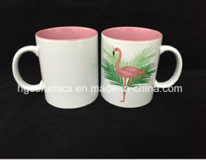 14oz Two Tone Coffee Mug, 14oz Two Tone Ceramic Mug with Printing pictures & photos