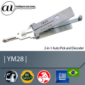 Automotive Locksmith Tool for Vauxhall Car YM28 2 in 1 Auto Pick and Decoder