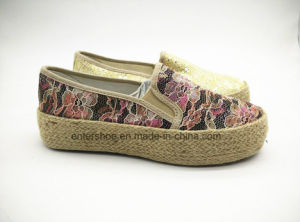 Women Slip on Floral Espadrilles (ET-FEK160114W) pictures & photos
