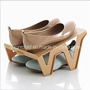 Plastic Double Shoes Rack Mould pictures & photos