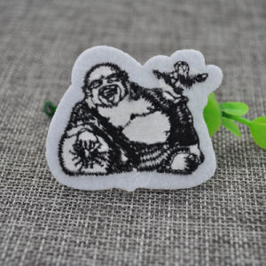 Custom Sew on Back Embroidery Woven Patch for Clothing Accessories pictures & photos