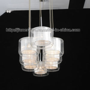Dining Room Suspension Pendant Lighting with Glass and Fabric Sahdes pictures & photos