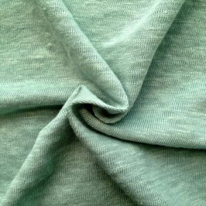 Linen Knitted Heather Grey Fabric (QF14-1591) pictures & photos