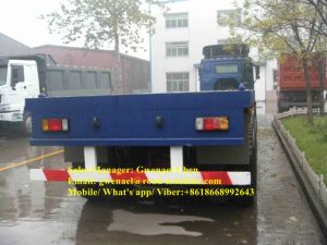 3 Axles 70 Tons Flatbed Semi-Trailer, for Transporting Container, Fuwa Axle pictures & photos