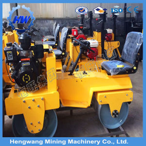 Mini Static Ride on Vibration Double Drum Compactor Road Roller pictures & photos