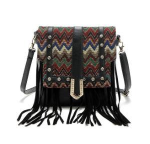 Women′s Wholesale Leather Shoulder Bag with Tassel Women Bag pictures & photos