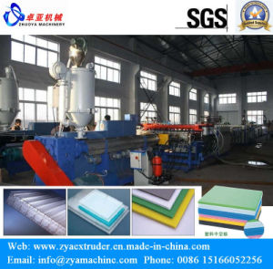 PP/PC Hollow Grid Panel/Sheet/Board Production Line pictures & photos