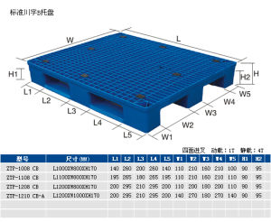 1200*800*170plastic Pallet with Iron Bars pictures & photos