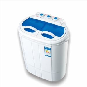 Mini 3kgs Portable Twin-Tub Washing Machine with Wash and Dry Clothes