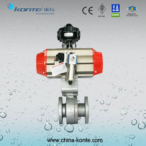 Metal Seated 2PC Forged Floating Ball Valve, Pneumatic Actuator pictures & photos