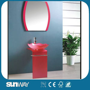 Tempered Glass Basin Vanity with Competitive Price pictures & photos