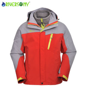 Red/Light Grey 3 in 1 Outdoor Jacket for Men pictures & photos