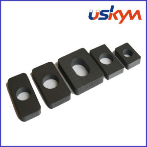 Hard Ferrite Block Magnets with Hole (F-010) pictures & photos