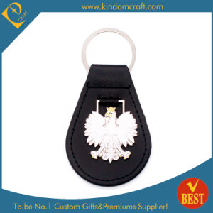 China Wholesale Customized Logo Genuine Leather Key Chain or Ring in High Quality pictures & photos