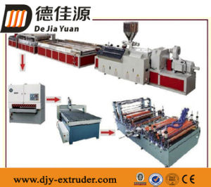 Sjz80/156 PVC Green Wood Plastic Door Panel Extrusion Line
