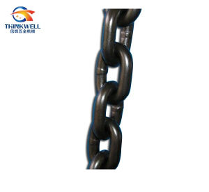 Black Oiled Alloy Steel Welded Link G80 Chain pictures & photos