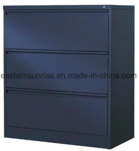 Office Use Three Drawer Metal Steel Iron Storage Filing Cabinet pictures & photos