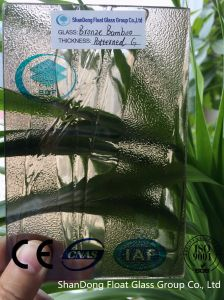 Bronze Bamboo Patterned Glass with Ce, ISO (3-8mm)