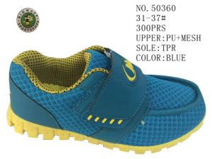 Blue Color Kids Sport Stock Shoes pictures & photos