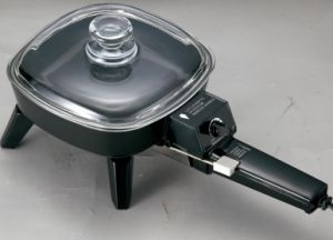 Electric Cast-Aluminum Skillet, 7 Nch with Glass Lid