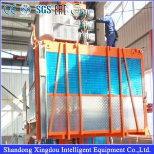 Construction Hoist Lift for Building with MID Speed Capacity 1000kg Double or Single Cage pictures & photos