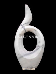 Black Marble Hand Carved Abstract Sculpture pictures & photos