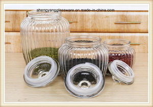 Food Grade 3PCS Spray Glass Food Use Storage Jar with Glass Lid pictures & photos