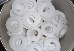 Solid Flat Pure PTFE Gasket Ring pictures & photos
