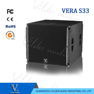 Vera S33 Line Array Bass 18′′ Front and 15′′ Rear Subwoofer pictures & photos