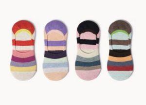 Lattest Fashion Strip Cotton Invisible Women Boat Sock pictures & photos