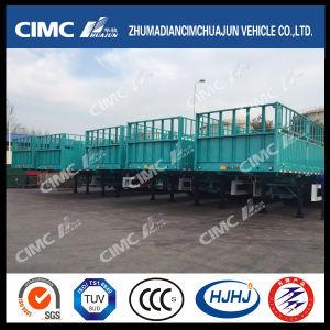 Cimc Huajun 1-Group-Stake Cargo Semi Trailer pictures & photos