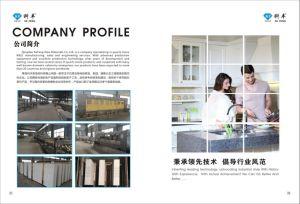 Laminated Straight Flat Prefab Kitchen Tops Engineered Quartz Stone pictures & photos