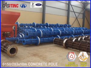 long life utility concrete pole mold