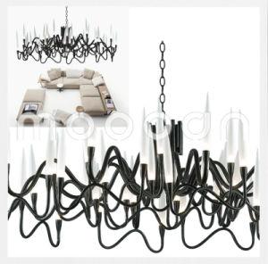 Modern Italian Iron Metal Art Noble Lily G4 LED Chandelier for Living Room pictures & photos