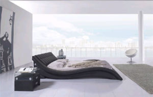 New Design Modern Home Furniture Bedroom Furniture Leather Bed (HCM022) pictures & photos