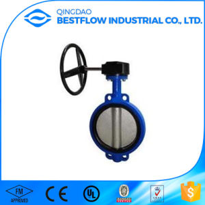 Ductile Iron Worm Gear Wafer 18 Inch Butterfly Valve pictures & photos