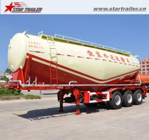 3 Axles Dry Powder Semi Tanker Trailer with Fuwa Axles pictures & photos