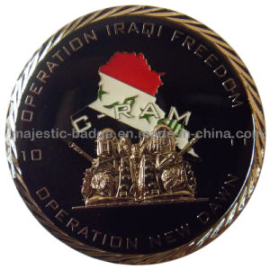 3D Gold Plating Soft Enamel Epoxy Coin pictures & photos