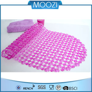 Eco-Friendly Bathing Mat, PVC Foot Rubs Slip-Resistant Bath Mat (pink) (D098)