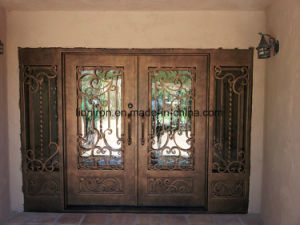 Beautiful Decorative Hand-Crafted Wrought Iron Front Doors pictures & photos