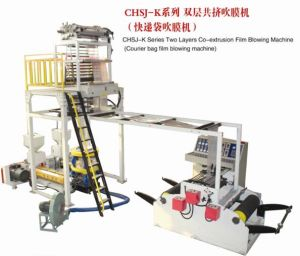Two Layer Co-Extrusion Courier Bag Film Blowing Machine pictures & photos