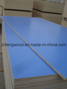 China Factory Produce Furniture Melamine Laminated Plywood Blue Color pictures & photos