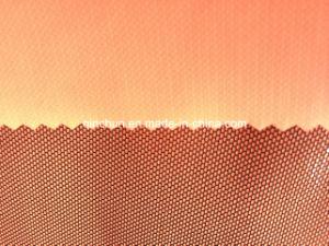 PU Coated Net Leather Fabric