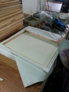"Professional8*10"" 1.6*3.7cm Thickness 280canvas Pinewood Stretched Canvas (back stapled) pictures & photos"