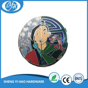 Wholesale High Quality Mermaid Square Hard Enamel Badge pictures & photos